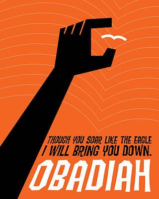 Word Obadiah Poster by Jim LePage