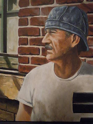 Poster featuring the painting Worker At Union Switch And Signal by James Guentner