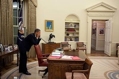 Working Late President Barack Obama Poster