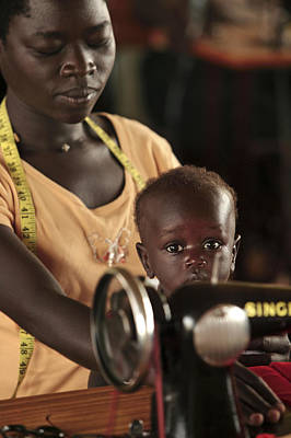 Working Mother And Child, Uganda Poster by Mauro Fermariello