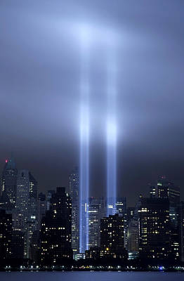 World Trade Center Memorial Lights Poster