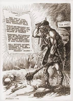 World War 1 Cartoon Of A Barbaric Poster