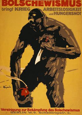 World War I, Bolshevism, German Poster Poster by Everett