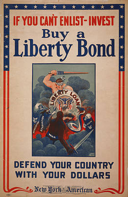 World War I, Poster Showing Figure Poster by Everett