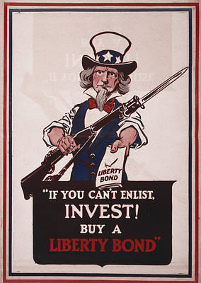 World War I, Poster Showing Uncle Sam Poster by Everett