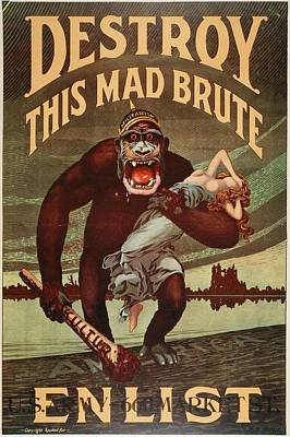 World War I Recruitment Poster Poster by Photos.com