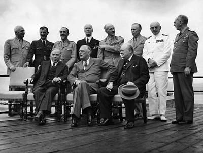 World War II. Seated, From Left W.l Poster by Everett