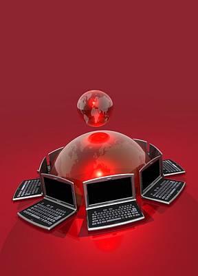 World Wide Web, Conceptual Artwork Poster