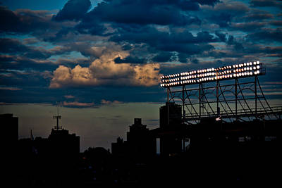 Wrigley Field Light Stand Poster
