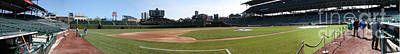 Wrigley Field Panorama Poster by David Bearden