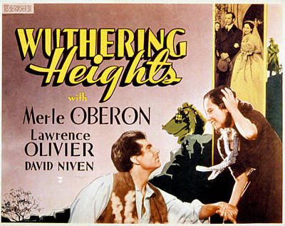 Wuthering Heights, Laurence Olivier Poster