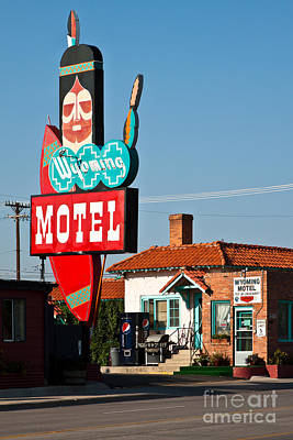 Wyoming Motel Poster by Lawrence Burry