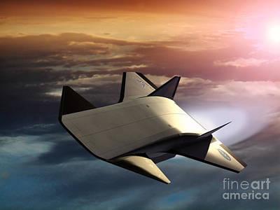X-43b Aircraft Poster