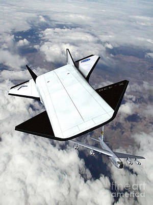 X-43b And B-52 Aircaft Poster by NASA / Science Source