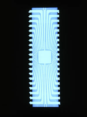 X-ray Of A Silicon Chip From A Teletext Board Poster