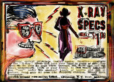 Xray Specs Poster by Russell Pierce