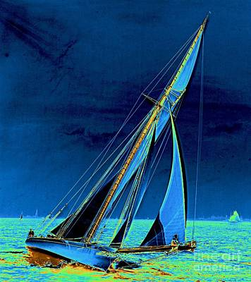 Yacht Shamrock In New York Harbor 1895 Poster by Padre Art