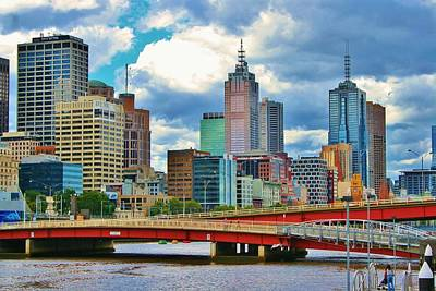 Yarra River City View Poster