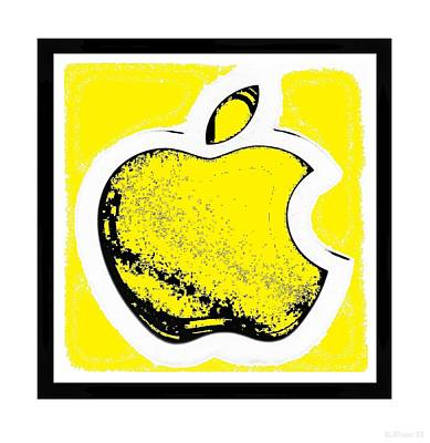Yellow Apple With Yellow Poster by Rob Hans