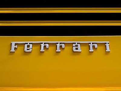 Yellow Ferrari Brightwork Poster by Douglas Pittman
