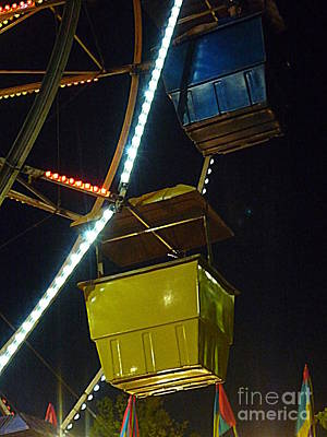 Poster featuring the photograph Yellow Ferris Wheel Bucket by Renee Trenholm