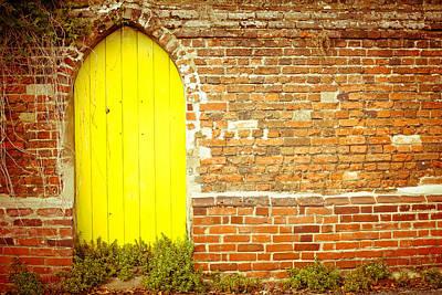 Yellow Gateway Poster by Tom Gowanlock