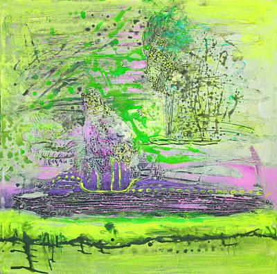 Yellow Landscape Poster by Lolita Bronzini