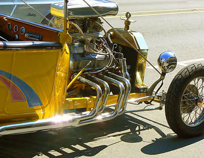 Yellow Rat Rod Poster by Pamela Patch