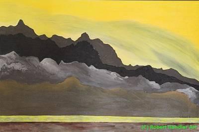 Yellow Sunset Poster by Robert Handler