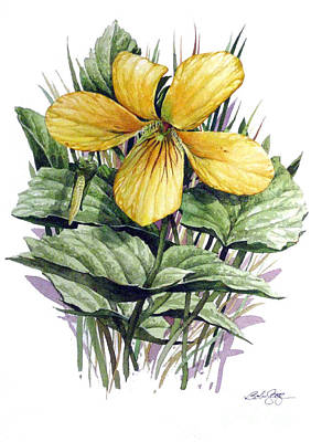 Poster featuring the painting Yellow Violet by Bob  George