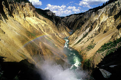 Yellowstone River Over The Falls Poster
