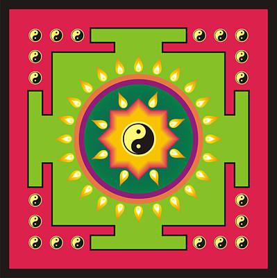 Yin Yang Mandala 2 Poster