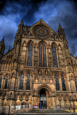 York Minster Cathdral South Transept Poster by Yhun Suarez