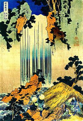 Yoro Waterfall In Mino 1833 Poster by Padre Art