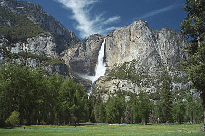 Yosemite Falls Across Meadow Poster