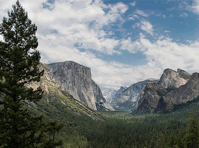 Yosemite Valley From Tunnel View At Yosemite Np Poster