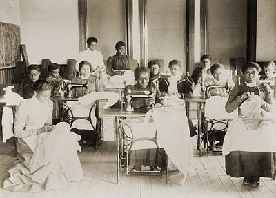Young African American Women Sewing Poster