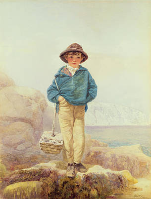 Young England - A Fisher Boy Poster by Alfred Downing Fripp