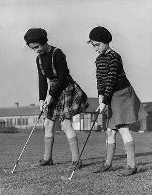 Young Golfers Poster by Fred Morley