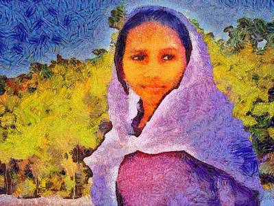 Young Moroccan Girl Poster