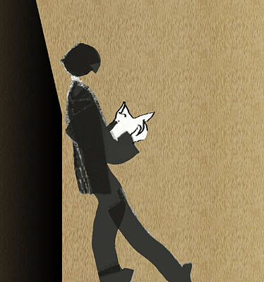 Poster featuring the digital art Young Scholar by Asok Mukhopadhyay