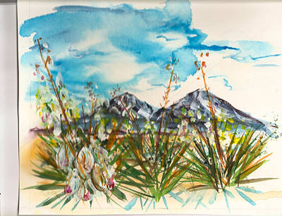 Yucca And Huajatolla Peaks Poster