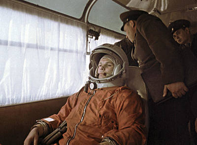 Yuri Gagarin Before Launch, 1961 Poster by Ria Novosti
