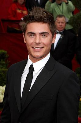 Zach Efron At Arrivals For 82nd Annual Poster by Everett
