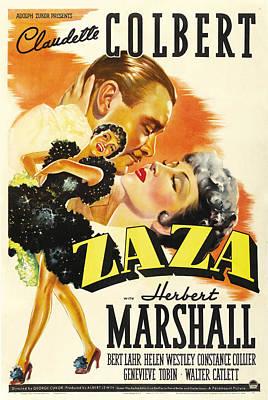 Zaza, Foreground Claudette Colbert Poster