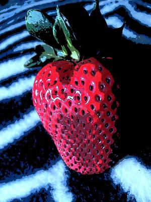 Zebra Strawberry Poster by Kym Backland