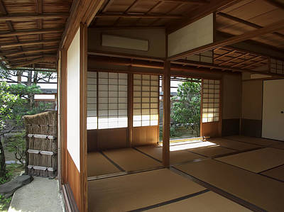 Zen Meditation Room Open To Garden - Kyoto Japan Poster