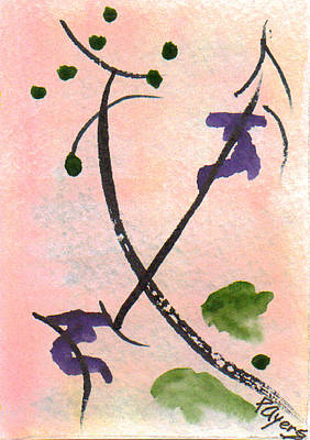Poster featuring the painting Zen Study 01 by Paula Ayers