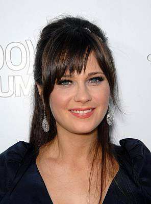 Zooey Deschanel At Arrivals For 500 Poster by Everett