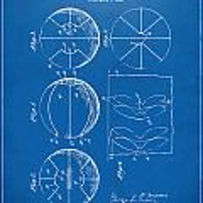 1929 Basketball Patent Artwork - Blueprint Poster